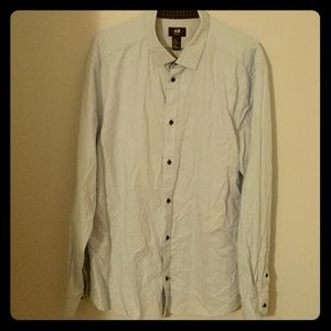 H&M Slim Fit Blue Button Down